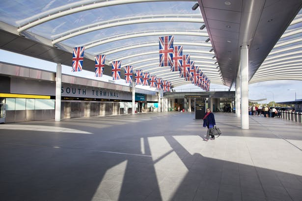 London Gatwick South Terminal Entrance